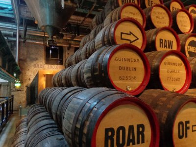 Guinness barrels
