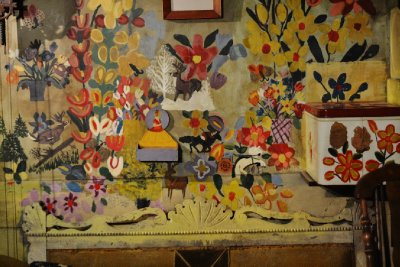Wall inside Maud Lewis' painted house