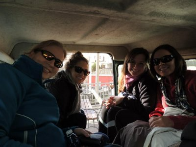 Riding in the jeep up to Mt. Etna