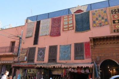 Carpets - a big item in Marrakech