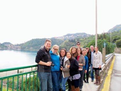 Group shot in Taormina