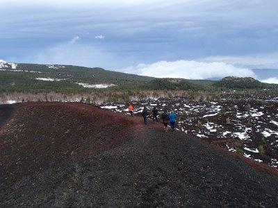 Walking the rim of the volcano