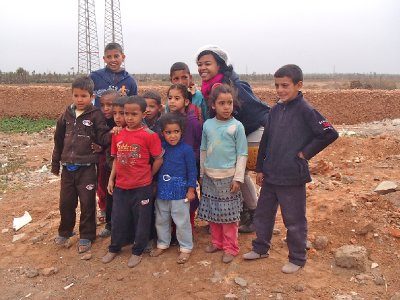 The kids of the Berber village