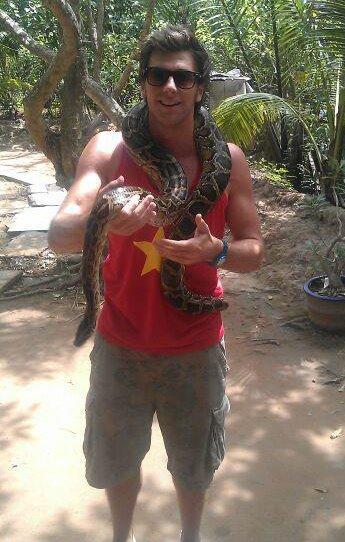 snake man....