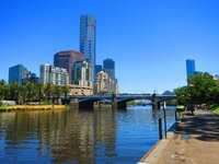 Melbourne Skyline With Yarra River