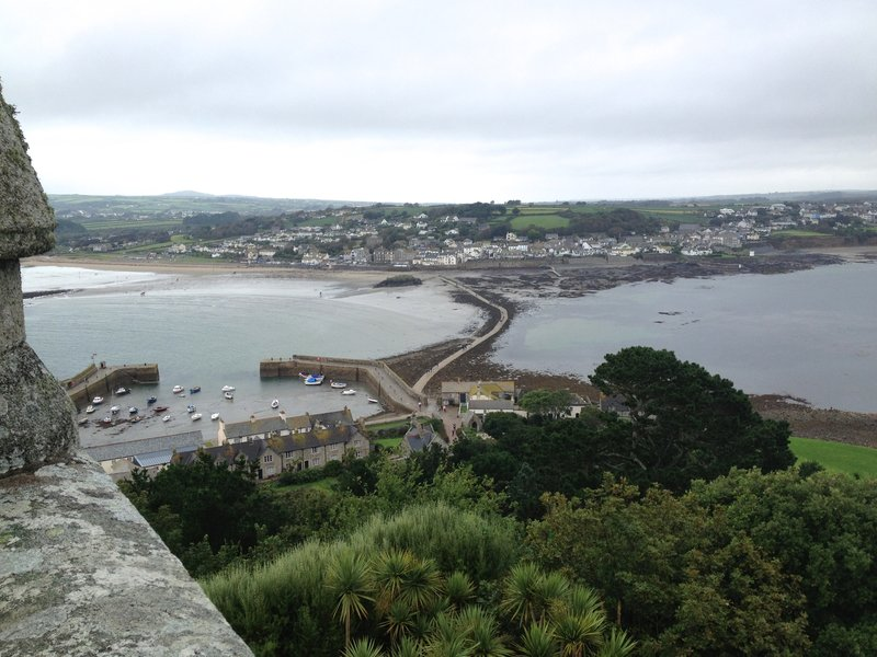 View from St. Michael&#39;s Mount unto Marazion