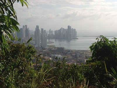 The modern city center of Panama