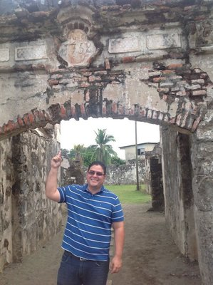And the year that the third fort was built was 1758. Our wonderful guide, Augusto.