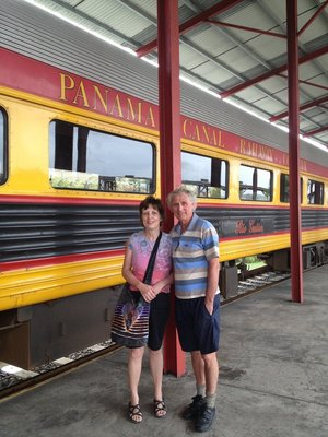 Yvonne and Eldon. We waited at the train station in Colon for Augusto to arrive by car.