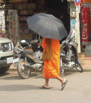 JAN 20. Monks are a common site all around Cambodia. Young boys often become monks for a few years, then  ....been there! ....done that!