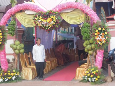 Farther down the street, the venue for music and dancing is prepared. Weddings are enthusiastic 3 day long celebrations!