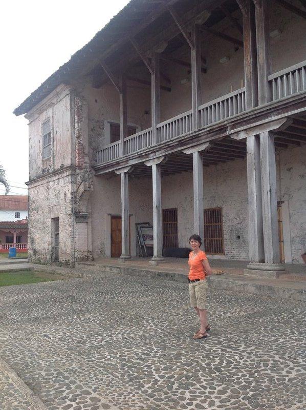 Jude at the former customs house in Portobello