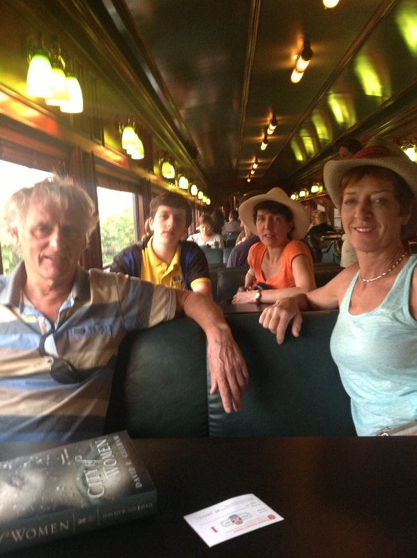 On board the Panama Canal Express. Eldon, nephew: Aidan, Sister: Jude, and me. Taken by sister, Yvonne.