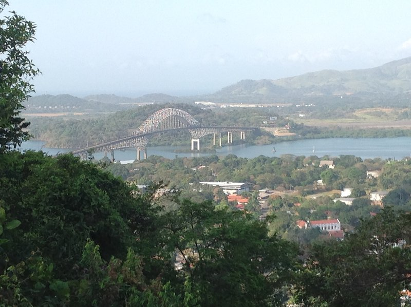Bridge of the Americas, just 'downstream' from the previous picture. This bridge is at the mouth of the Panama Canal.