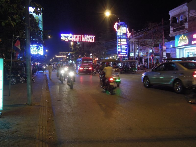 JAN 10.  Night Market in Siem Reap. There are great smells and tastes while strolling around down town on a sultry evening.