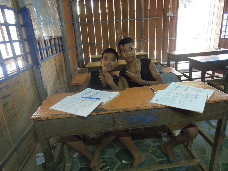 Kyo and Rau - Teachers dream of students like these. Funny, bright - pinch me: I must be dreaming. They are doing grade 6, but their English skills far surpass that.