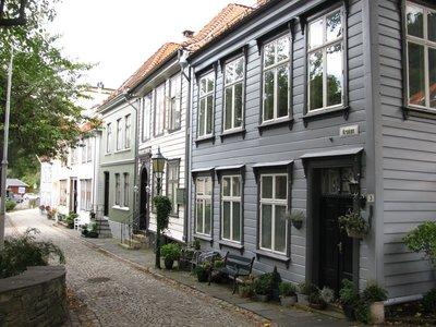 A charming street in Bergen