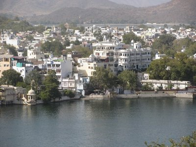 View of part of Udaipur on Lake Pichola