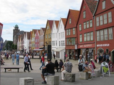 The charming town of Bergen
