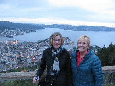 Carol and Carol overlooking Bergen