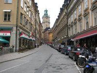 Typical street in old Stockholm