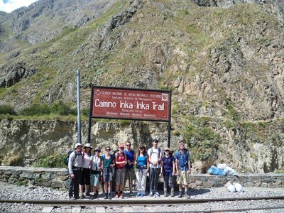 Fresh faced at the start of the Inca Trail