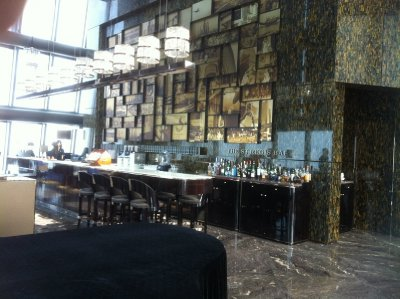 bar of St. Regis Hotel on the 96th floor of Kingkey100