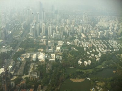 View of Shenzhen from 96th floor of Kingkey100