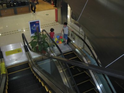 riding the escalators