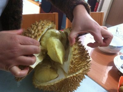 durian slightly opened