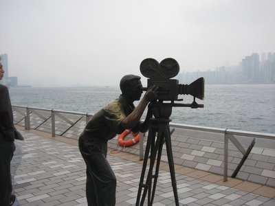 Cameraman sculpture