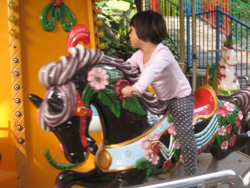 Ellie on the merry-go-round