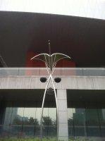 Street light in front of Shenzhen Museum