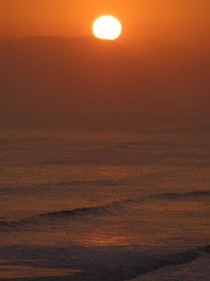 sunset in miraflores