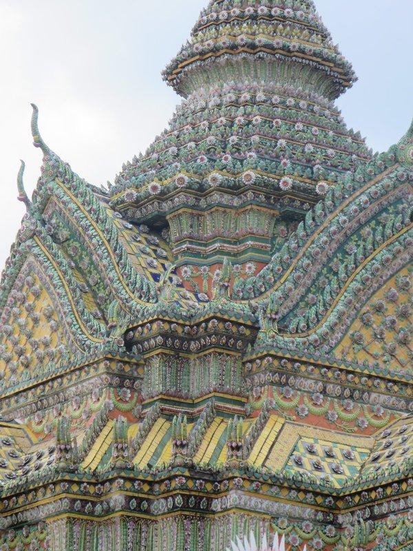 Temple Roof at Wat Pho in Bangkok