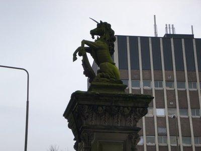 A Unicorn Statue from Near my Flat