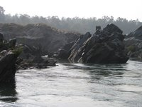 spectacular rocks in river  Damodar, Rajrappa,India