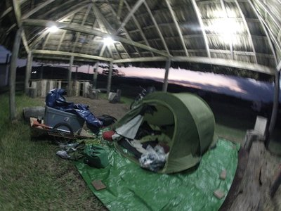 Camping out side Anton Lizardo Veracruz