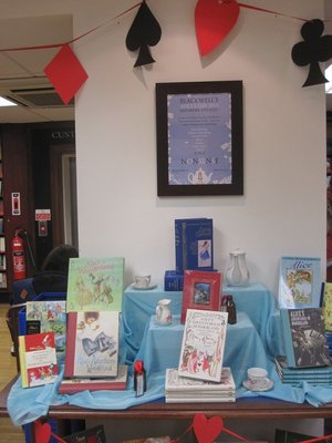 Alice display at bookstore