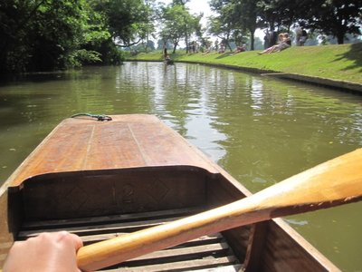 Punting!  I helped.