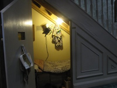 Harry's cupboard under the stairs