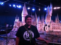 In front of the Hogwarts model, size does matter