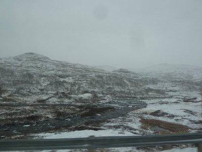 The bleak landscape from Highway 50 above Aurland