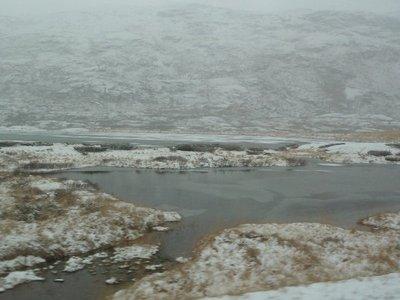 Frozen Lake above Aurland