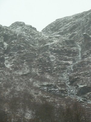 Crags above us on the road above Aurland