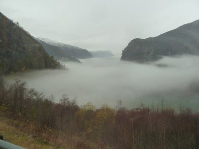 This first view of Aurslandfjord is normally spectacular
