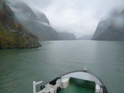 Turning into Naeroyfjord