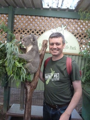 Me with a Koala at Featherdale Wildlife Park
