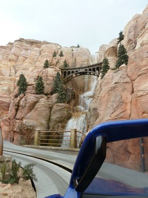 On the Radiator Springs Ride in Cars Land at Disney California Adventure