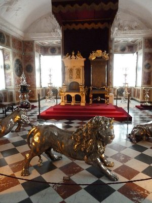 The King and Queen's Throne in the Long Room on the top floor of Rosenberg Slot